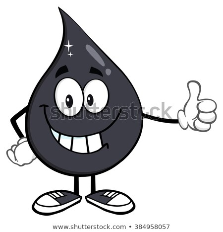 Petroleum Or Oil Drop Cartoon Character Giving A Thumb Up Stock photo © hittoon