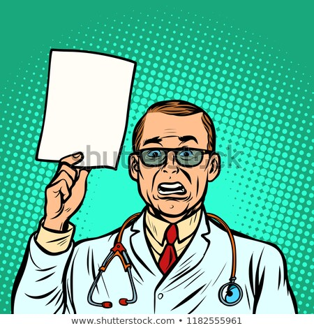 help information skeptical male doctor. Medicine and health Stock photo © rogistok