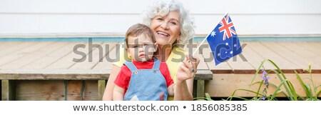 avustralya · kadın · bayraklar · sevinç · bikini - stok fotoğraf © lovleah