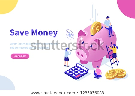 Cash savings isometric 3D concept illustration. Stock photo © RAStudio