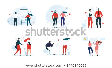 Working Break and Phone Negotiations Vector Stock photo © robuart