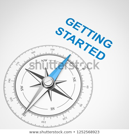 Compass on White Background, Getting Started Concept Stock photo © make