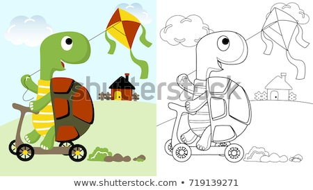 T is for educational game coloring book Stock photo © izakowski