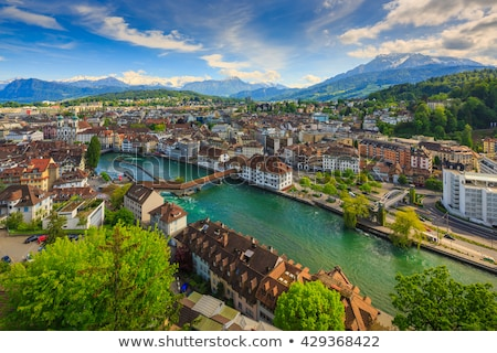 Suíça histórico cidade centro famoso capela Foto stock © boggy