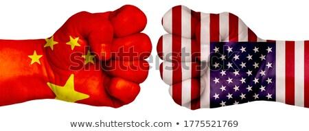 Kína USA verekedés kereskedelem háború vitatkozás Stock fotó © Lightsource