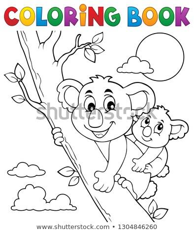 Coloring book koala theme 2 Stock photo © clairev