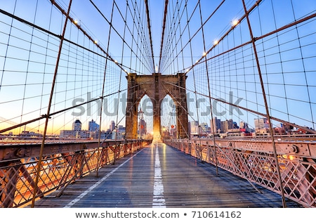 Brooklyn Bridge With Skyscrapers Stock photo © AndreyPopov