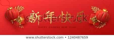 Rosso capodanno cinese carta illustrazione realistico Foto d'archivio © cienpies