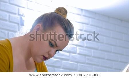Portrait of female decorators against white wall Stock photo © Kzenon
