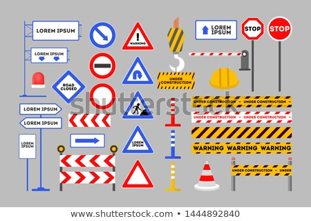 Road barriers and signs Stock photo © netkov1