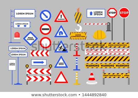 desvio · assinar · laranja · tráfego · placa · sinalizadora · direito - foto stock © netkov1