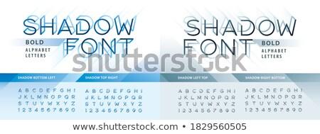 Stock photo: vector set of mirror