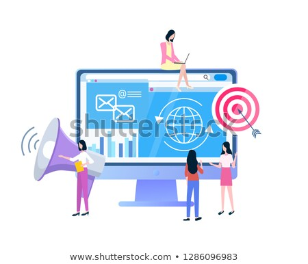 sociale · pagina · laptop · tablet · mobiele · telefoon - stockfoto © robuart