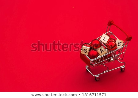 Black Friday, Online Shopping, Basket and Balloon Stock photo © robuart