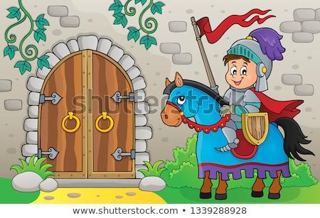 öreg · ajtó · kép · terv · építészet · klasszikus - stock fotó © clairev
