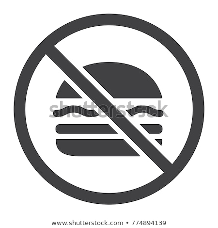 Flat design icon of Prohibited hamburger Stock photo © angelp