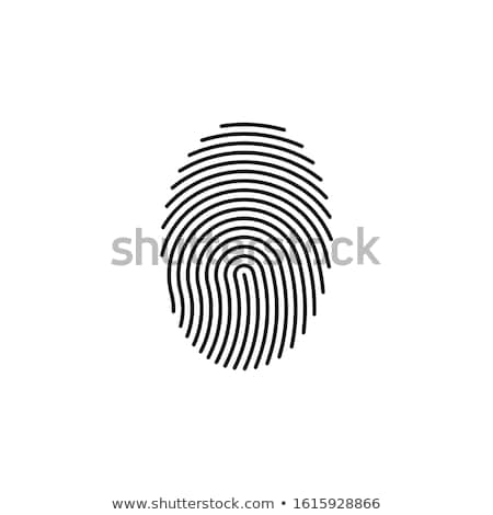 Vingerafdruk scannen icon kleur ontwerp hand Stockfoto © angelp