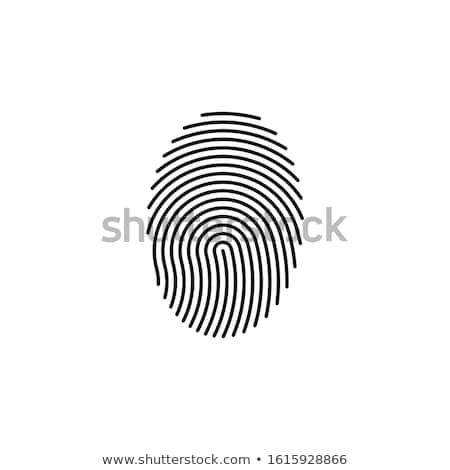 Fingerprint scan icon Stock photo © angelp