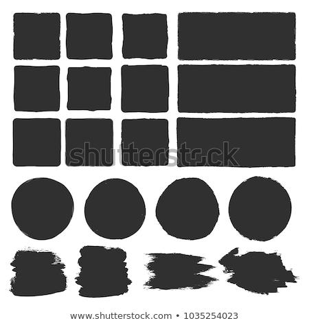 fekete · téglalap · illusztráció · tér · keret · terv - stock fotó © Blue_daemon