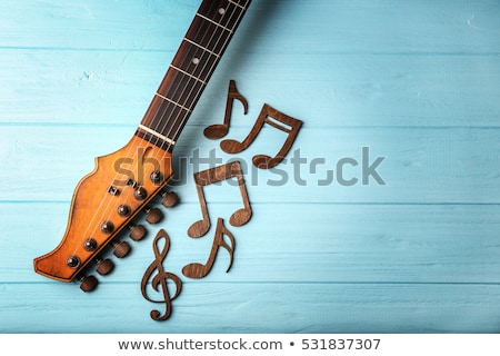 Guitarra notas musicales ilustración música arte Foto stock © colematt