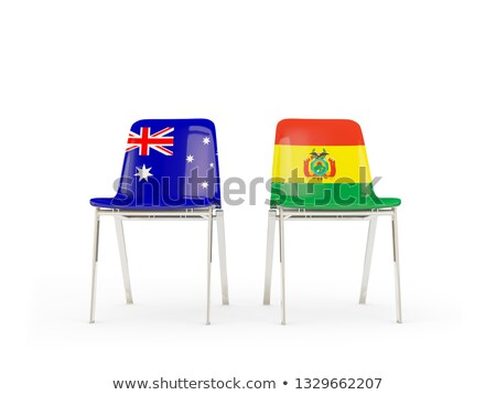 Two chairs with flags of Australia and bolivia Stock photo © MikhailMishchenko