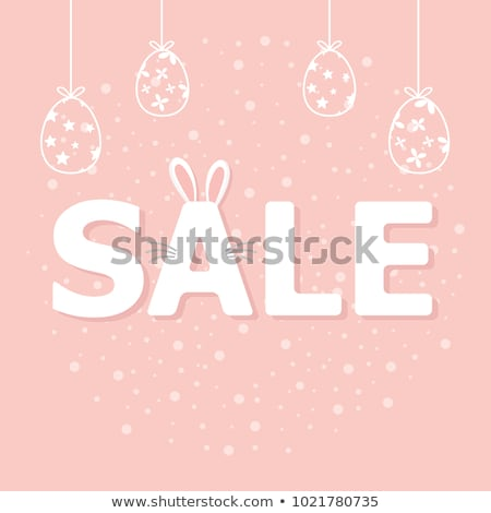 easter sale illustration with color painted egg on white background vector holiday design template stock photo © articular