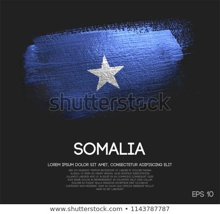 Fédéral république Somalie pavillon sécher terre Photo stock © grafvision