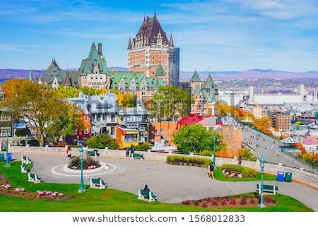 Château vieux Québec ville belle saison d'automne Photo stock © Lopolo