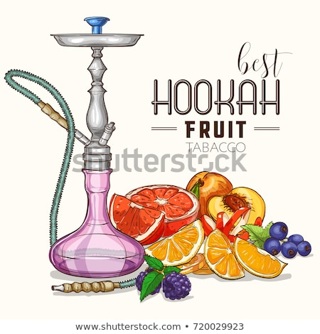 Vector illustration, hookah color sketch stock photo © netkov1