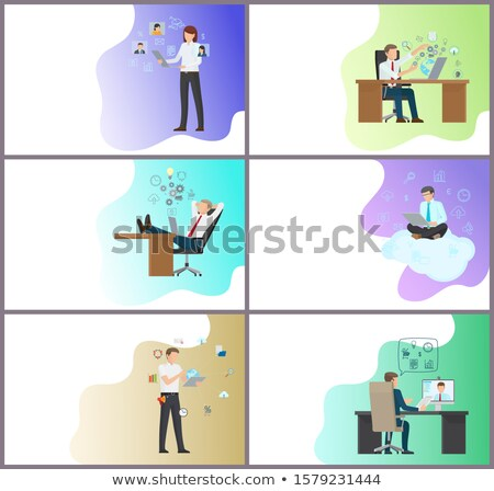 Online Business Performance, People Working Hard Stock photo © robuart