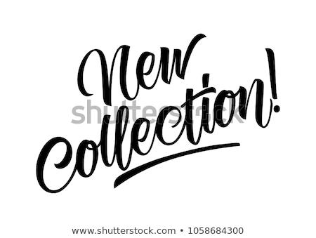 новых · коллекция · баннер · рисованной · дизайна · печать - Сток-фото © sonia_ai