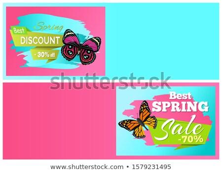 spring discount sale 30 70 off emblems set on online stockfoto © robuart
