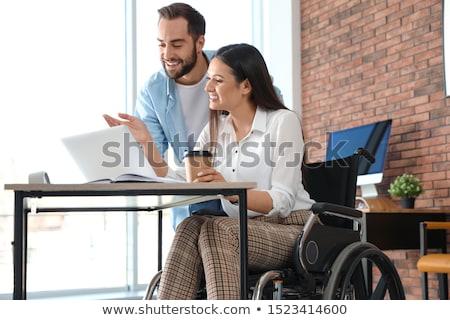 genç · öğrenci · tekerlekli · sandalye · sakatlık · ev · adam - stok fotoğraf © elnur