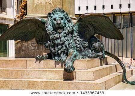 Detalle estatua italiano patriota Venecia Italia Foto stock © boggy