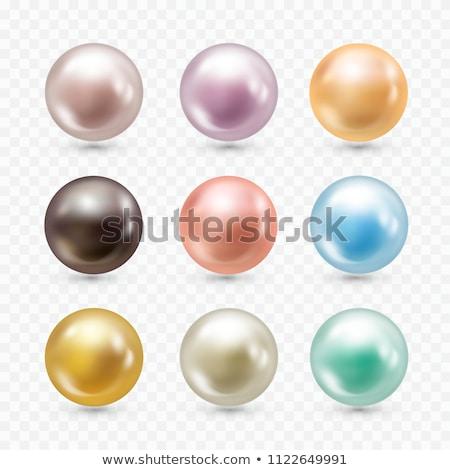 vector · collectie · kleur · parels · geïsoleerd · witte - stockfoto © netkov1