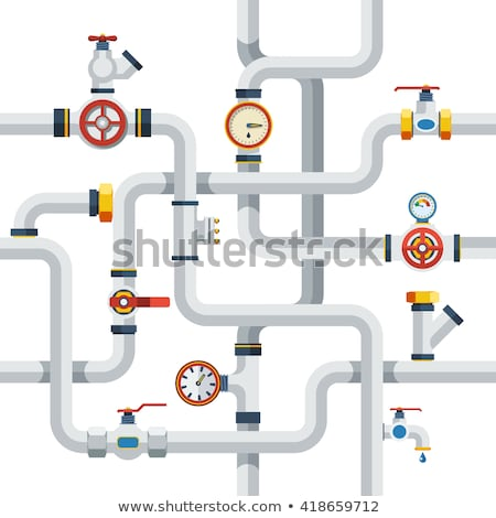 Water Pipes flat icon Stock photo © netkov1