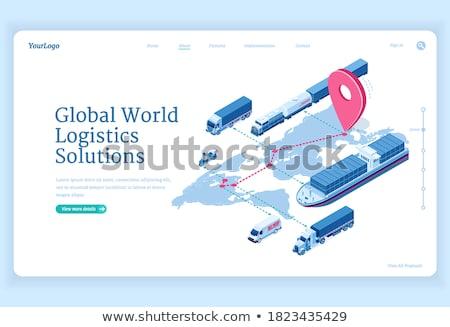 Exportar entrega bens mundo vetor Foto stock © robuart
