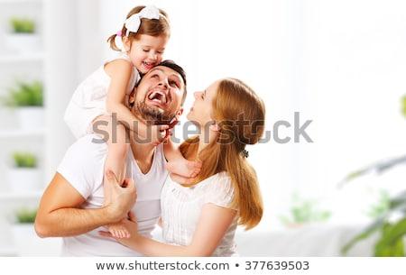 Família feliz retrato casa retrato de família pessoas feliz Foto stock © dolgachov