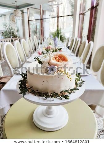 結婚式 · 表 · 装飾された · お菓子 · ドリンク - ストックフォト © ElenaBatkova