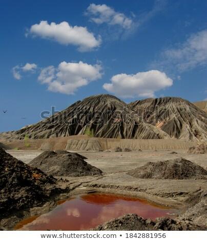 Piros kövek elhagyatott kihalt karrier természet Stock fotó © grafvision