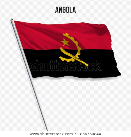 Waving Flag of Angola Stock photo © nazlisart