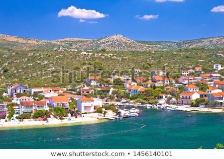 Stock photo: Rogoznica archipelago beach and coastline view in Podglavica