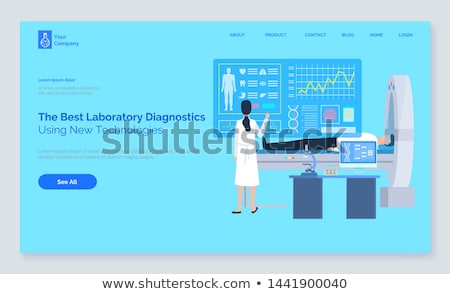 patient healthy report cardiogram and tech vector stock photo © robuart