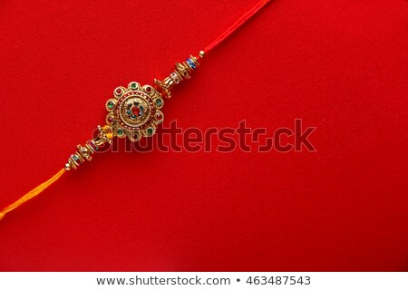 raksha bandhan golden rakhi beautiful background Stock photo © SArts