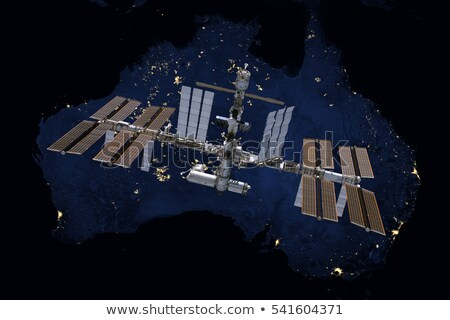 Stock photo: International Space Station over Australia