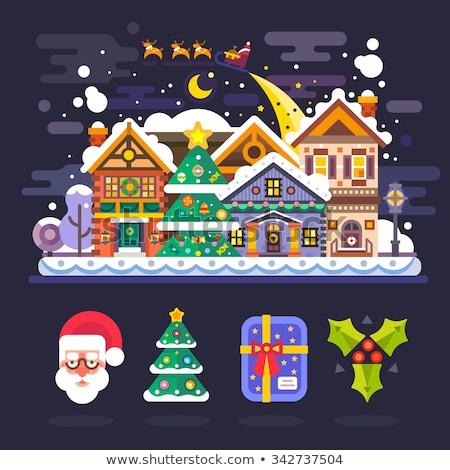 クリスマス 冬 1泊 村 雪 ストックフォト © liolle