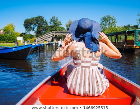 Female Tourist Enjoying The Gondola Ride Stock photo © AndreyPopov