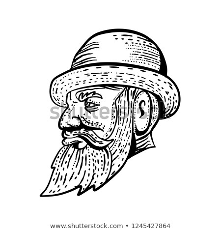 Czarno białe stylu ilustracja Zdjęcia stock © patrimonio