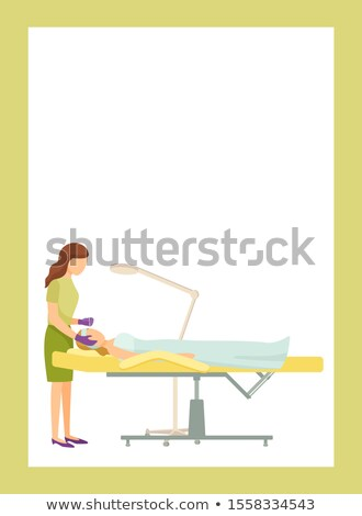 Cosmetician Poster Woman Makes Cosmetic Procedures Stock photo © robuart
