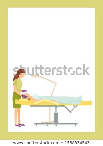cilt · bakımı · poster · metin · örnek · başlık - stok fotoğraf © robuart